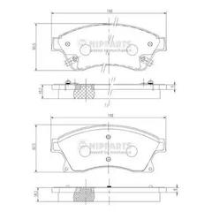 N3600914 - Brake Pad Set, disc brake