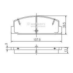 J3613002 - Brake Pad Set, disc brake