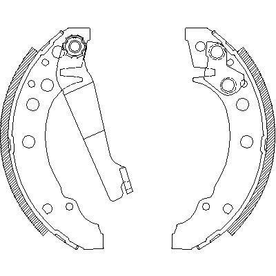 Rear Delphi Brake Shoes Brake Drums 180mm Seat Ibiza 1.4i 16V 1.4i 1.6i