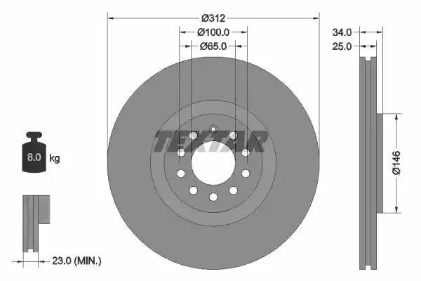 Mintex Front Brake Discs MDC1381