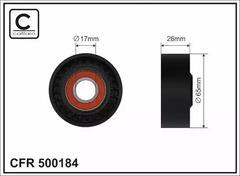 SKF Tensioner Pulley v-ribbed belt VKM 36146