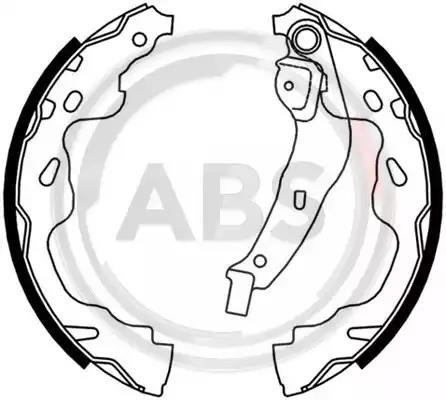 FEBI 37534 Brake Shoe Set Rear Axle