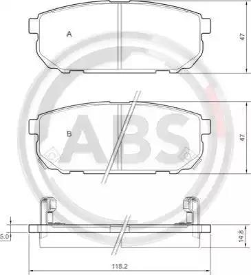 MDB2590 MINTEX Brake Pad Set disc brake rear