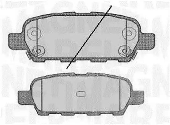 Blueprint Blue Print OE Spec Replacement Rear Disc Brake Pads ADN142113