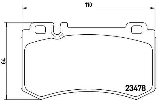 P 50 061 - Brake Pad Set, disc brake