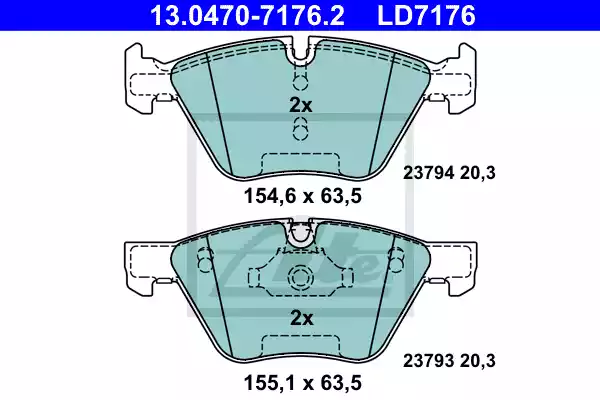 13.0470-7176.2 - Brake Pad Set, disc brake