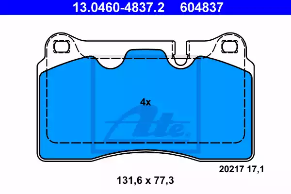 13.0460-4837.2 - Brake Pad Set, disc brake