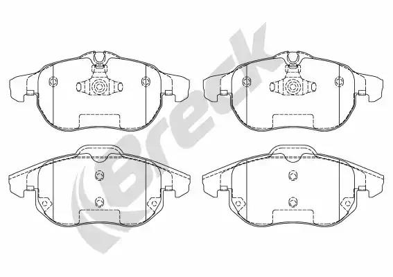 23402 00 701 00 - Brake Pad Set, disc brake