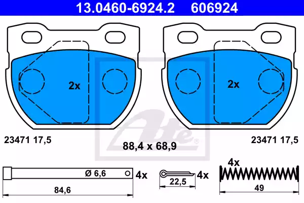 13.0460-6924.2 - Brake Pad Set, disc brake