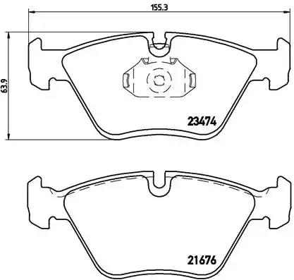 P 06 042 - Brake Pad Set, disc brake