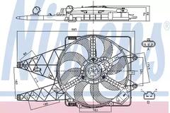 radiator Nissens 85569 Fan