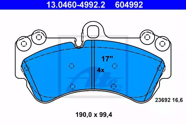 disc brake set of 4 Ferodo FDB1625 Brake Pad Set