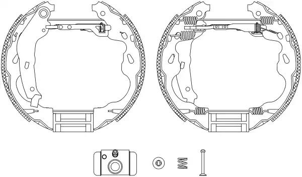 FEBI 37534 Brake Shoe Set Rear Axle
