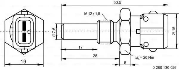 Genuine OE Quality Febi Coolant Temperature Sender Unit 17695