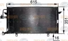 8FC 351 035-551 - Condenser, air conditioning