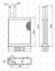 52066 - Heat Exchanger, interior heating