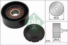 532 0557 10 - Deflection/Guide Pulley, v-ribbed belt