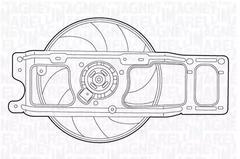 Engine Cooling Van Wezel 4341746 Fan