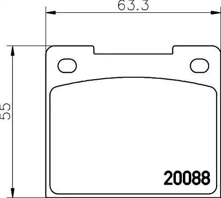 MGB533 MINTEX Brake Pad Set disc brake front