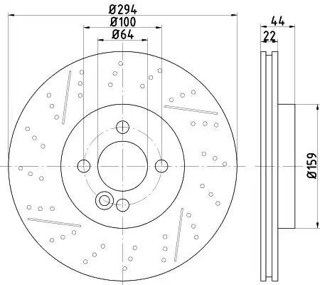 Pro Braking PBF8132-TRD-GOL Front Braided Brake Line Transparent Red Hose /& Stainless Gold Banjos