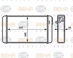 8FH 351 313-281 - Heat Exchanger, interior heating
