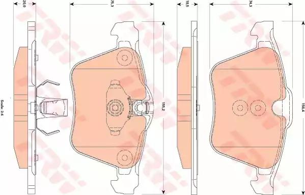 REAL IMAGE OF PART MINTEX FRONT AXLE BRAKE PADS FOR JAGUAR S XF XJ XK MDB2789